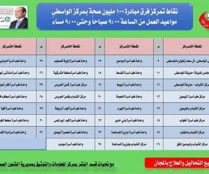 ضمن مبادرة الرئيس.. خريطة الكشف عن فيروس سى بقرى ومدن محافظة بنى سويف