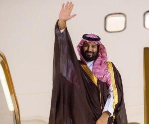 الرئيس السيسي يودع ولى العهد السعودى بمطار القاهرة بعد انتهاء زيارته لمصر
