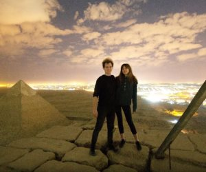 الآثار تبرئ نفسها بفوتوشوب فيديو ممارسة الحب فوق قمة الهرم.. والحقيقة داخل كاميرات المراقبة