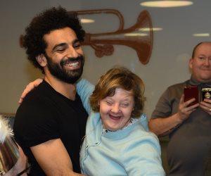 صلاح الخير.. شاهد الفرعون المصري يحتفل بتكريم ذوي الاحتياجات الخاصة في ليفربول (صور)