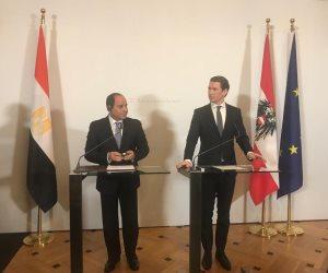 المستشار النمساوي: مصر أهم الشركاء التجاريين في أفريقيا والشرق الأوسط
