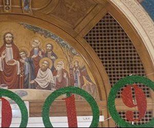 كنيسة العذراء تبدأ احتفالاتها بترانيم الجنود برعاية الأنبا مكارى (صور)