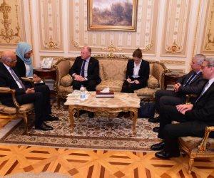 مصر ماشية صح.. تفاصيل لقاءات عبد العال وسفراء بريطانيا وأستراليا وكندا