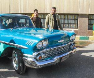شاهد سيارة عبد الناصر بعد تجديدها.. وزير الرى يزيح الستار