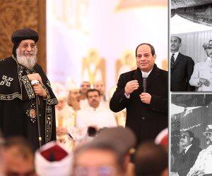 مصر في مشهدين بينهما 51 عاما.. كاتدرائية بين جمال عبد الناصر والسيسي