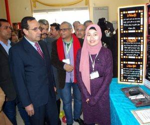 """خلال افتتاحه معرض الطلبة المخترعين.. """"شوسة"""": طلاب سيناء أقوى من الإرهاب (صور وفيديو)"""