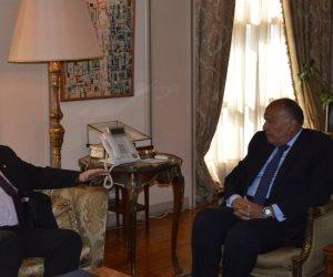 وزير الخارجية يستقبل نائب وزير الخارجية اليوناني