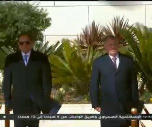 مراسم استقبال رسمية لدى وصول السيسي إلى العاصمة الأردنية