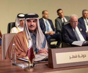 هل حضر أمير قطر قمة بيروت الاقتصادية مندوبًا عن إيران وتركيا؟
