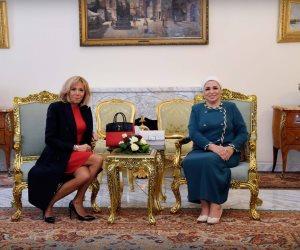 انتصار السيسي بقرينة ماكرون: الشعب المصري يعتز بالعلاقات المصرية الفرنسية