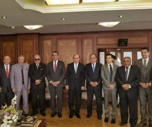 مميش للمتحدث باسم البرلمان: خطط تطوير قناة السويس ممتدة ونعمل لتقديم صورة مشرفة عن مصر