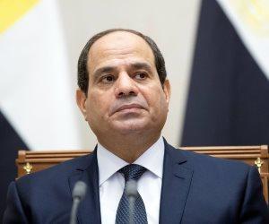 عودة السيسي إلى أرض الوطن بعد مشاركته فى القمة العربية بتونس