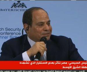 السيسي: نستضيف 5 ملايين لاجئ لا نزايد بهم كما فعلنا مع الأرمن منذ 100 عام