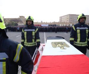 وزير الداخلية يتقدم جنازة شهيد حادث الدرب الأحمر الإرهابي بأكاديمية الشرطة