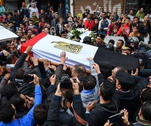 5 مشاهد في جنازة شهيد الدرب الأحمر تؤكد هزيمة الإرهاب