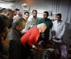 وزيرة الصحة تتفقد مصابي حادث الدرب الأحمر الإرهابي بـ«الحسين الجامعي»
