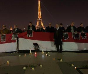 وقفة بالشموع في فرنسا لتأبين شهداء القوات المسلحة والشرطة (صور)