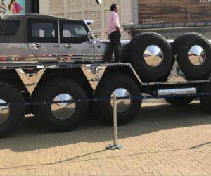 الكشف عن سيارة حمد آل نهيان صاحبة الـ 10 إطارات: وحش «ترانسفورمرز» حقيقي