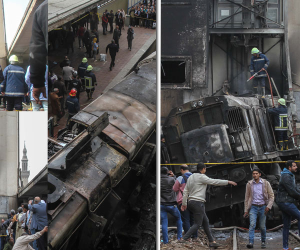 ضبط سائق الجرار المتسبب فى  حريق محطة مصر