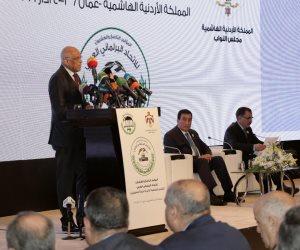 كل ما قاله رئيس النواب المصري من الأردن عن القضية الفلسطينية
