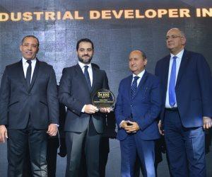 وزير التجارة والصناعة يكرم بولاريس باركس كأفضل مطور صناعي في مجال المشروعات الصغيرة والمتوسطة باحتفالية BT100