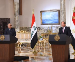 تفاصيل لقاء السيسي ورئيس الوزراء العراقي: جهود عربية موحدة لاستكمال محاربة الإرهاب