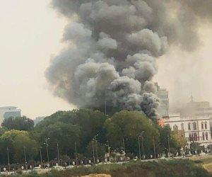 اندلاع حريق بالقصر الجمهوري بالعاصمة السودانية الخرطوم (صور)