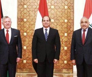 بيان مشترك لقادة مصر والأردن والعراق: ماذا قالوا؟