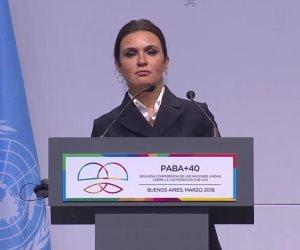مصر تقود حوار دول الجنوب.. ماذا قالت سحر نصر في ختام مؤتمر الأمم المتحدة بالأرجنتين؟ (صور)