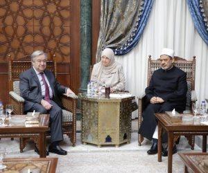 الطيب يلتقي بالأمين العام للأمم المتحدة (صور)