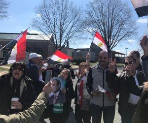 واشنطن تتزين بالأعلام المصرية لاستقبال الرئيس (فيديو جراف)