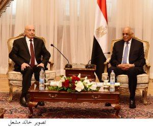 عبدالعال لنظيره الليبى: وجود جيش وطنى هو الضمانة الأساسية لاستقرار وسيادة الدولة الليبية