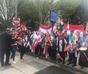 الجالية المصرية بأمريكا تهز واشنطن بهتاف:  الشعب يريد إعدام الإخوان