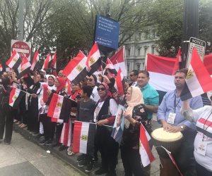 الجالية المصرية بأمريكا تهز البيت الأبيض بنشيد «قالوا ايه» (فيديو)