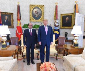 ترامب يشيد بالتعاون مع مصر: أحرزنا سوياً تطورا كبيراً في ملف مكافحة الإرهاب