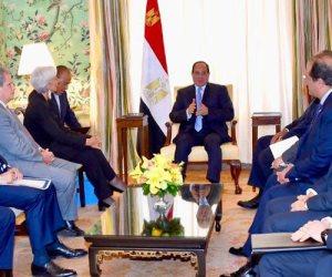 خلال لقائه بـ«لاجارد».. السيسي يشيد بدور الشعب المصري في نجاح برنامج الإصلاح الاقتصادي