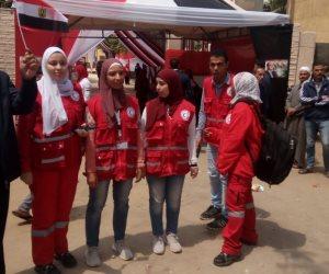 حملة الهلال الأحمر تحرص علي التواجد داخل لجان التعديلات الدستورية بالمنيل
