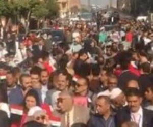 طوابير تنتظر فتح لجان التصويت على التعديلات الدستورية في «الوراق وأوسيم»