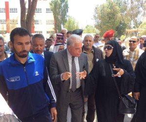 محافظ جنوب سيناء يتفقد لجنة بلال بن رباح بمدينة نويبع (صور)