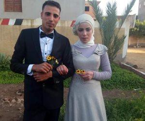 عروسان يصران على الإدلاء بصوتهما في الاستفتاء قبل حفل الخطوبة بالدقهلية