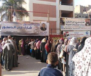 «100 مليون صحة» تواصل عملها بالتزامن مع الاستفتاء على التعديلات الدستورية في الجيزة (صور)