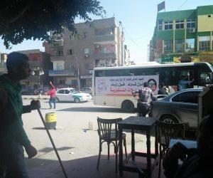 مسيرة حاشدة بالسيارات لحث المواطنين على المشاركة في الاستفتاء (صور)