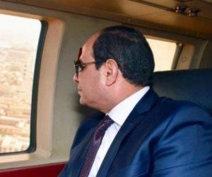 """السيسى فى جولة تفقدية """"جوا"""" لمشروعات تطوير ميناء الإسكندرية ومحور روض الفرج"""