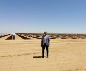 «صوت الأمة» داخل السد العالي الجديد.. «بنبان» أكبر محطة بالعالم لانتاج الكهرباء من الطاقة الشمسية