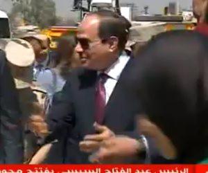 """السيسى فى افتتاح محور روض الفرج: """"كل مشروع بنخلصه بيوفر وقت وجهد وفلوس"""""""