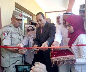 محافظ شمال سيناء يفتتح توسعات مدرسة  الشهيد رائد عمرو فريد بقرية الكرامة (صور)
