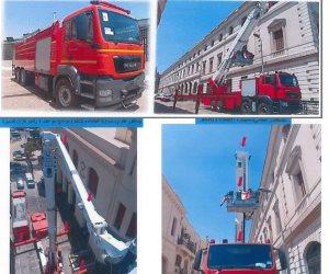 الدولة تدعم وزارة الداخلية بسيارات إطفاء حديثة تصل إرتفاعها ٥٥متر (صور)