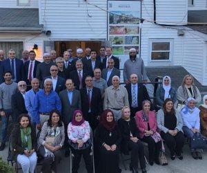 السفير هشام النقيب قنصل مصر العام بنيويورك يتفقد المركز الإسلامى القديم فى ميلفيل بلونج أيلاند