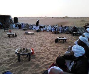 «لقمة لله».. وليمة رمضانية لبدو شمال سيناء (صور)