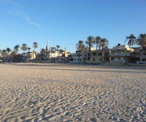 أهالي شمال سيناء يفضلون زيارة شواطىء البحر المتوسط في العيد (صور)